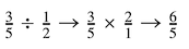 dividing fractions with whole numbers example