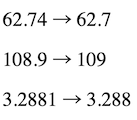 Rounding to the nearest whole number