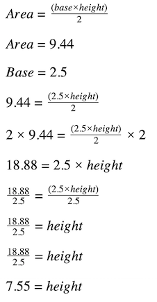 formula to find the height of a triangle