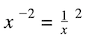 what is an exponent in math: negative exponent into fraction