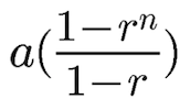 sum of finite geometric series: Formula on how to get the sum of the first n