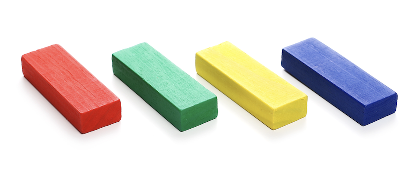 is a rectangle a parallelogram: different colors of blocks