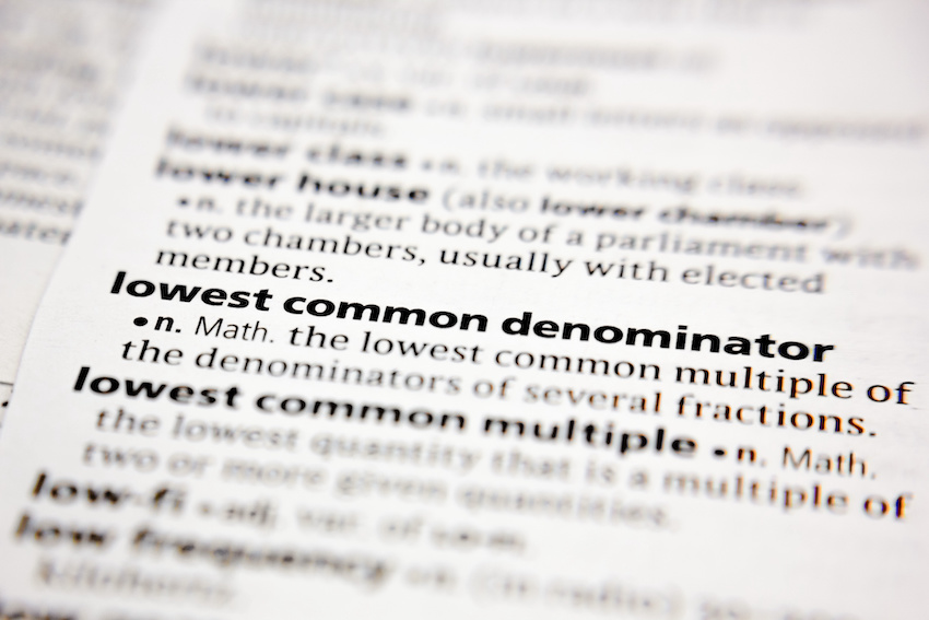 Lowest common denominator meaning