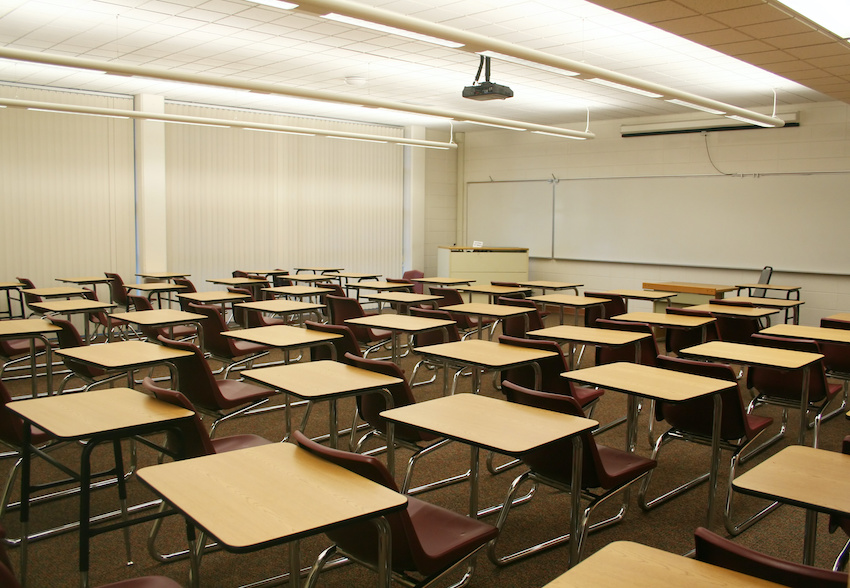 An empty classroom: Coronavirus closures have altered the AP test schedule 2020