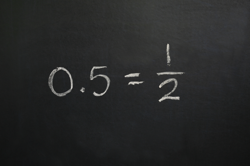 how to write a fraction as a decimal: decimal to fraction