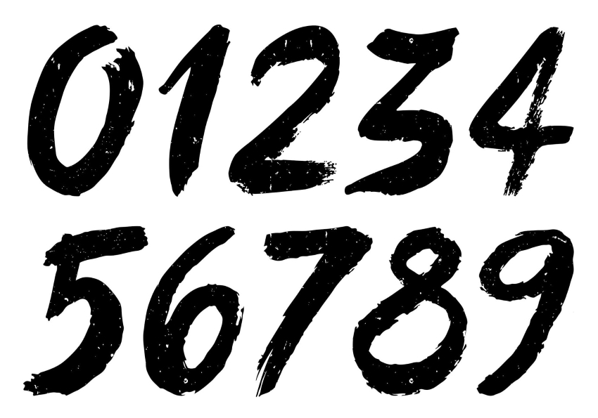 greatest common factor definition: Numbers written using a brush