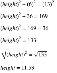 how to find height of a triangle: formula for solving the missing height