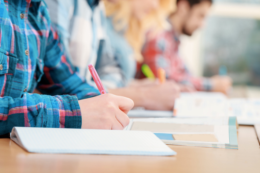 Perfect SAT Score: Students take practice tests