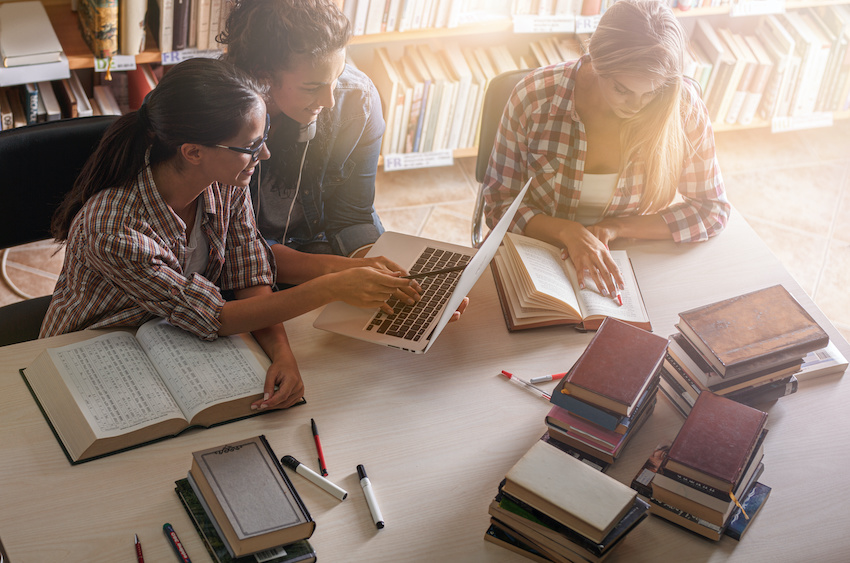 How to study for the LSAT: three students in a study group