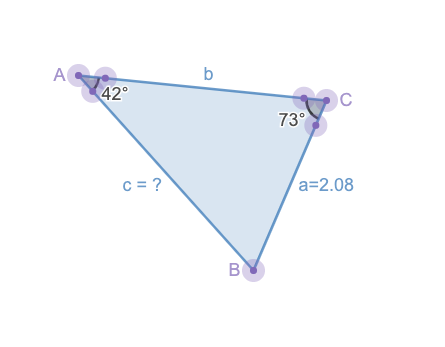 how to find the length of a triangle: Example of the Law of Sines in action