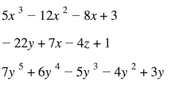 Polynomial expression