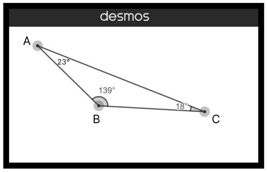 triangle rules: Diagram of an obtuse triangle