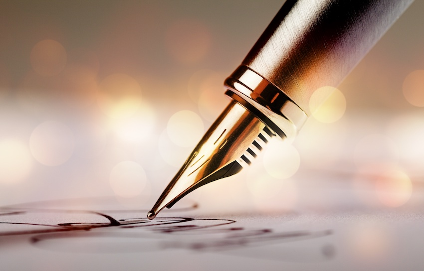 How to improve writing skills: a pen on paper