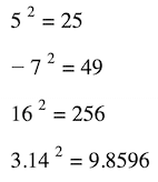 how to square a number example formula