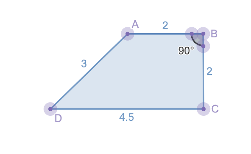 height of the trapezoid