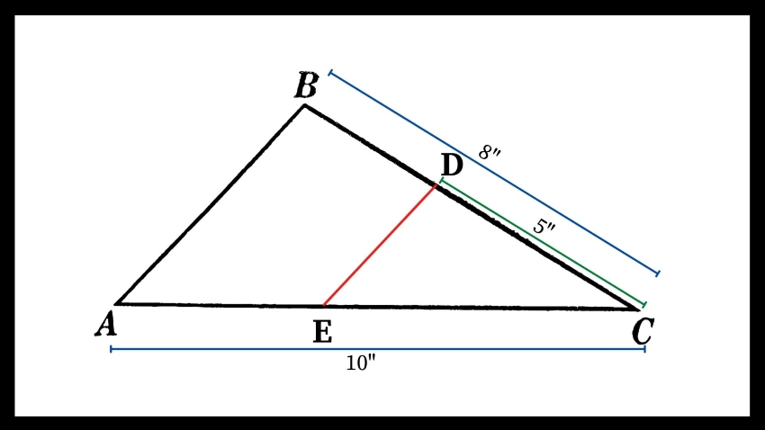 Diagram showing the triangle proportionality theorem