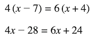 expressions and equations: multi-step equation