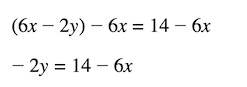 formula to isolate the y