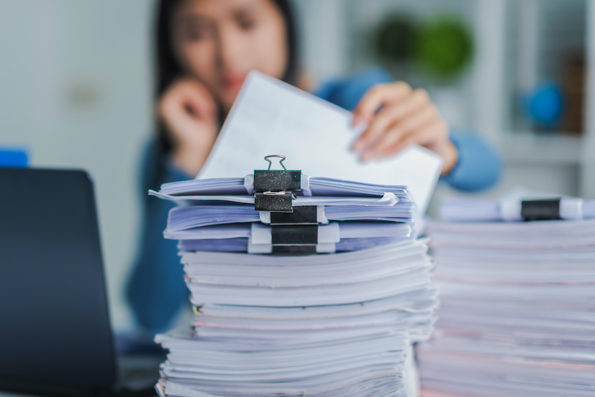 How to study for the LSAT: a student reviews piles of paperwork