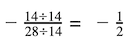 Simplify the fractions