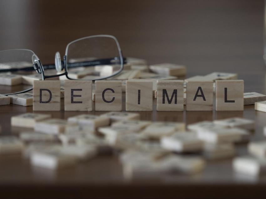 are repeating decimals rational: DECIMAL spelled using wooden blocks