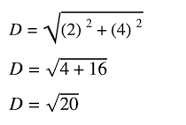 distance and midpoint formula: Distance formula showing the order of operations PEMDAS