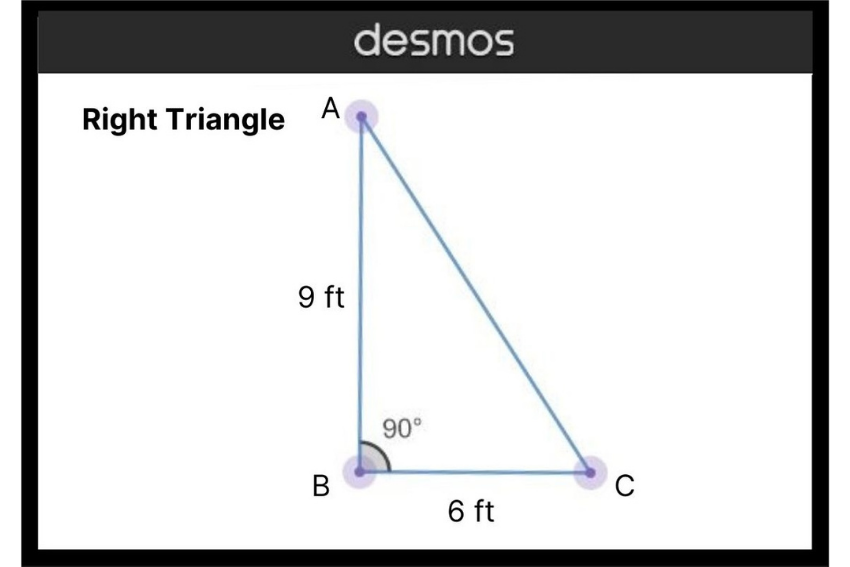 how to find the area of a right triangle: Image of a right triangle with base and height