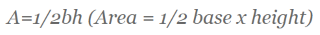 Formula for the area of a right triangle