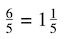dividing fractions with whole numbers: improper fraction