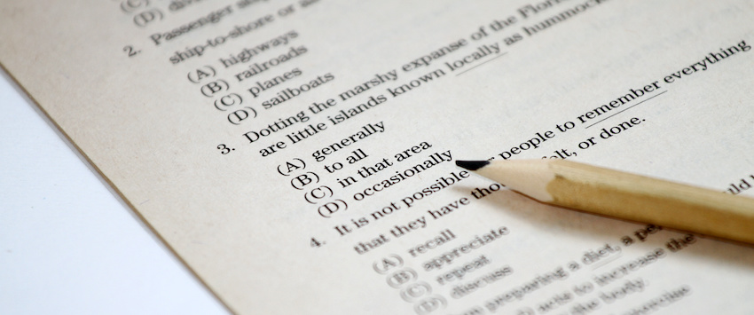 What does the SAT test you on? Student taking test discovers.