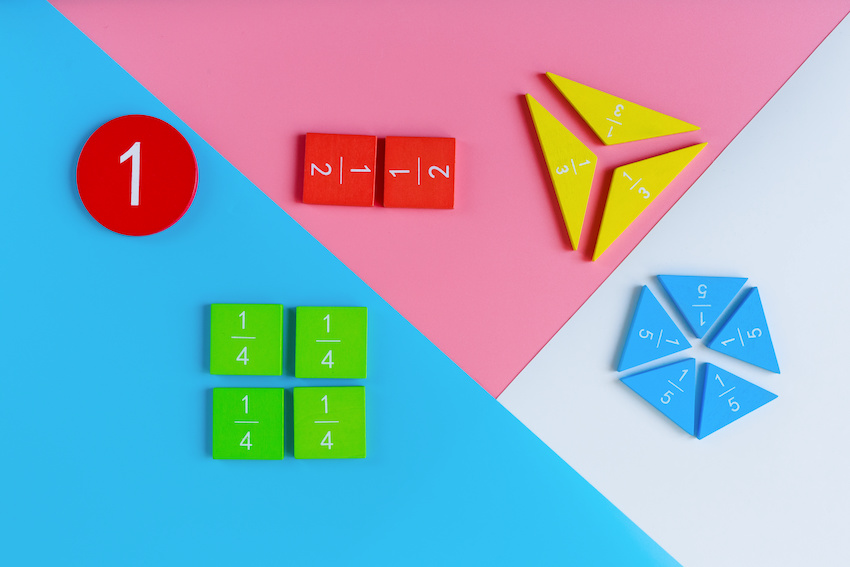 Negative fractions: colorful fractions